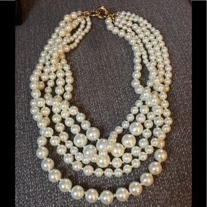 J. Crew 5 Strand Pearl Necklace